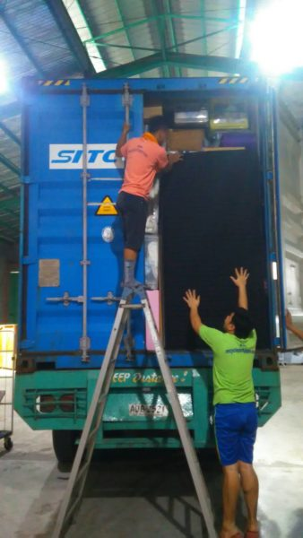 UNLOADING CONTAINER AT RPJ VALENZUELA